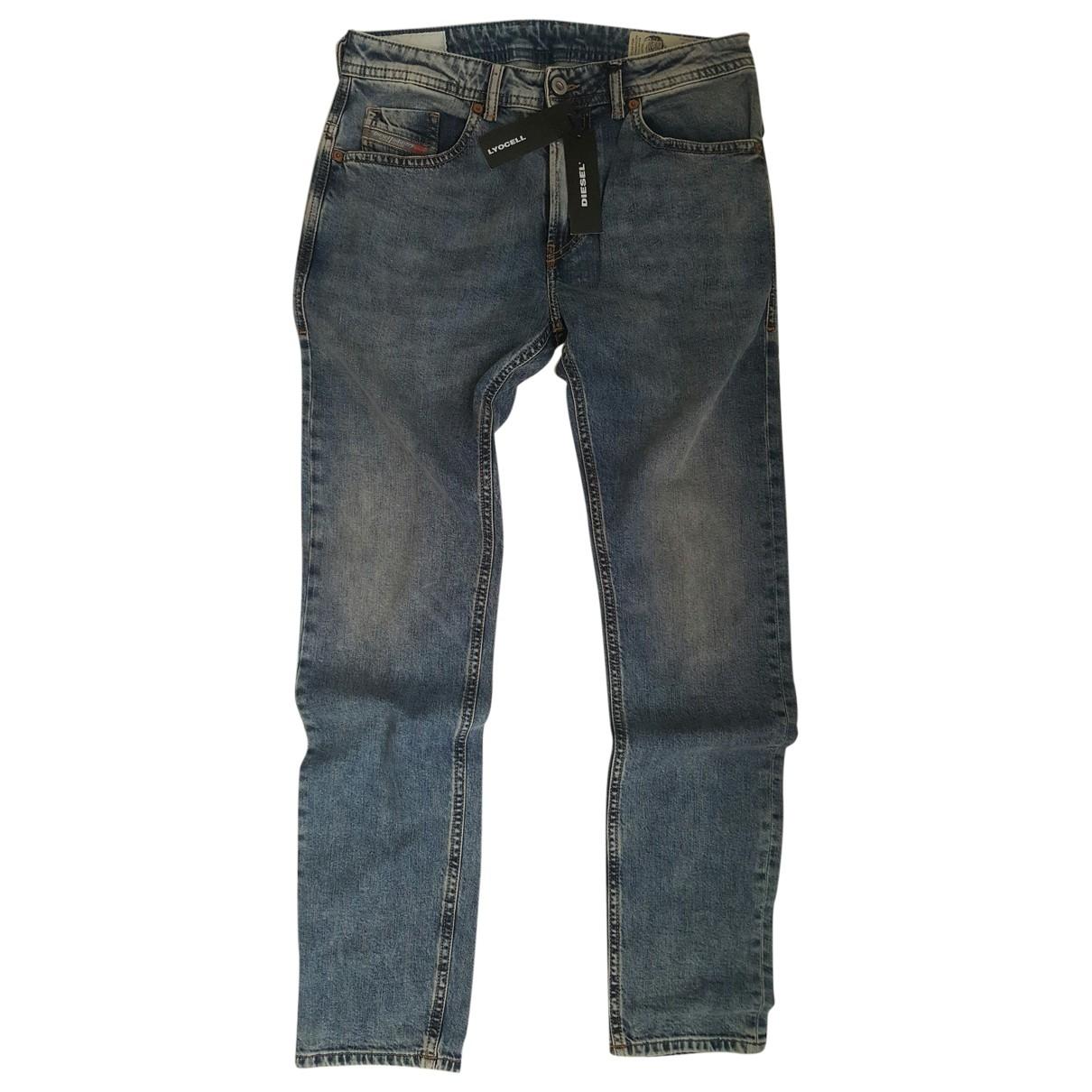 Diesel \N Blue Cotton - elasthane Jeans for Men 30 US