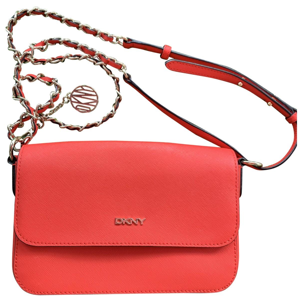 Donna Karan \N Orange Leather Clutch bag for Women \N