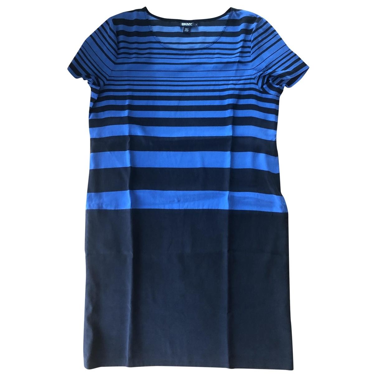 Dkny \N Blue Silk dress for Women L International