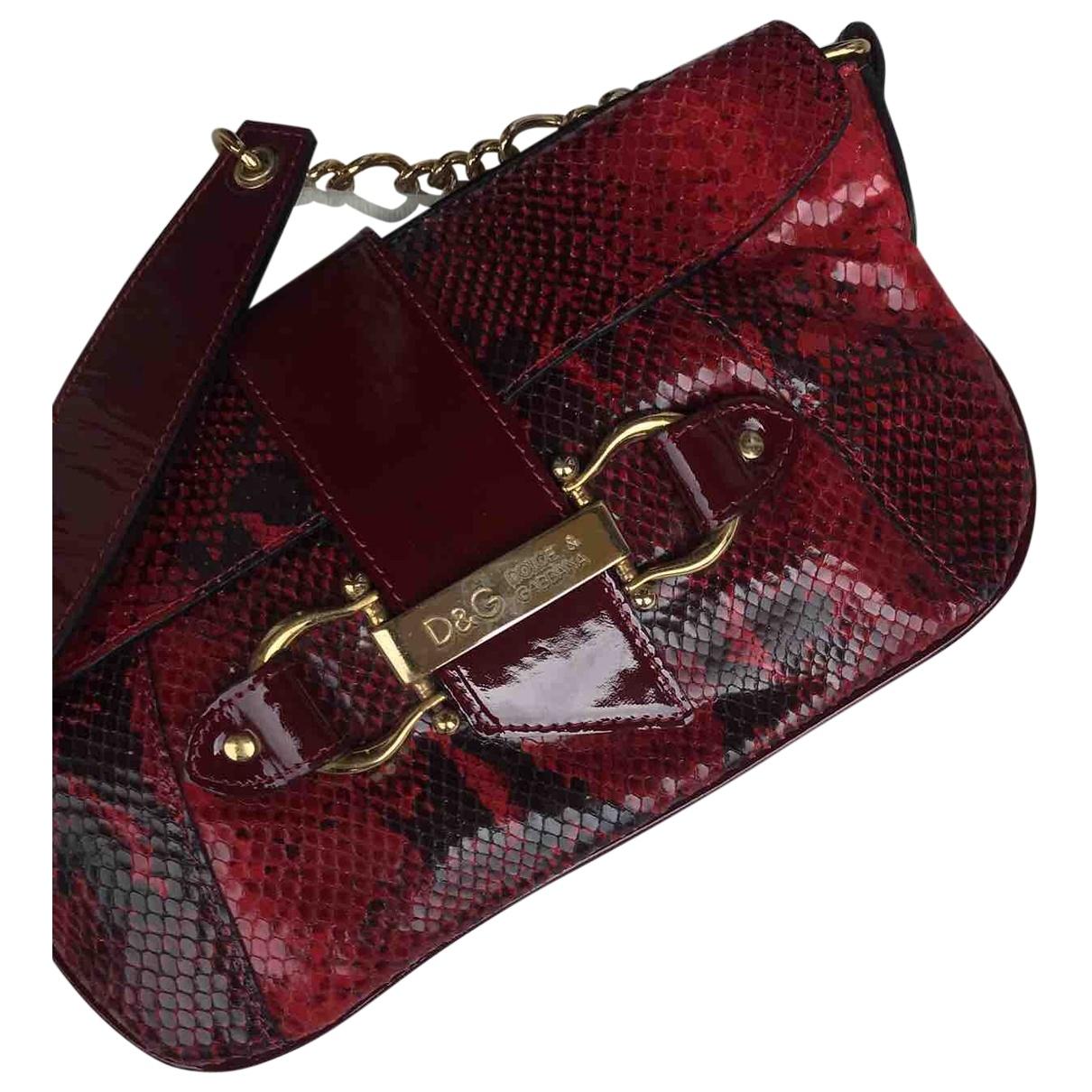 D&g \N Red Leather handbag for Women \N