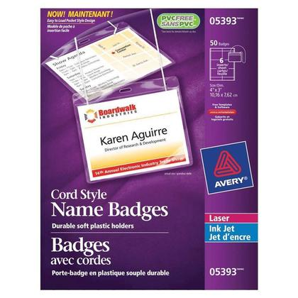 Avery@ Laser/Jet d'encre nom badge kit suspendre, 4