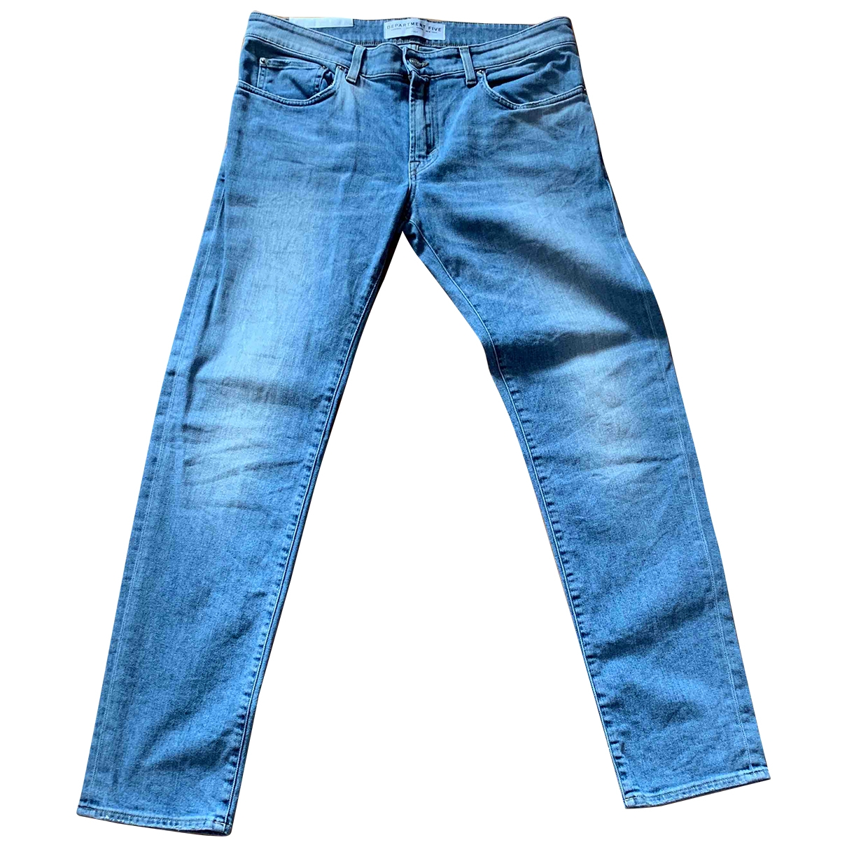 Department 5 \N Blue Cotton - elasthane Jeans for Men 33 US