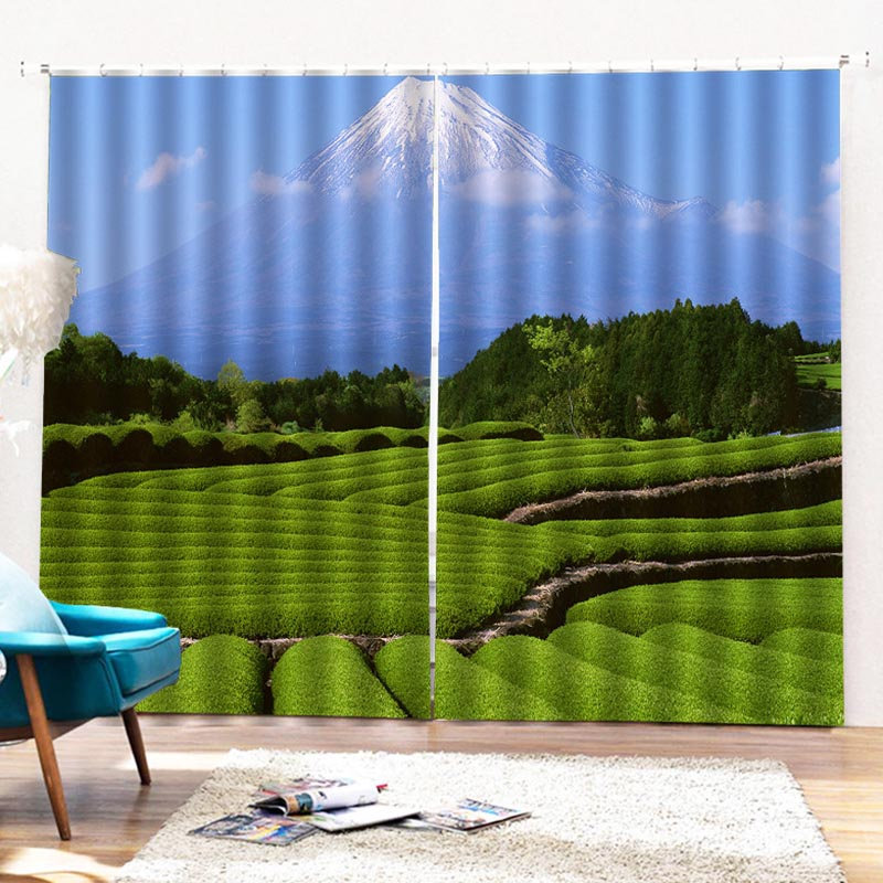 Beddinginn Pastoral Landscape Blackout Curtains/Window Screens
