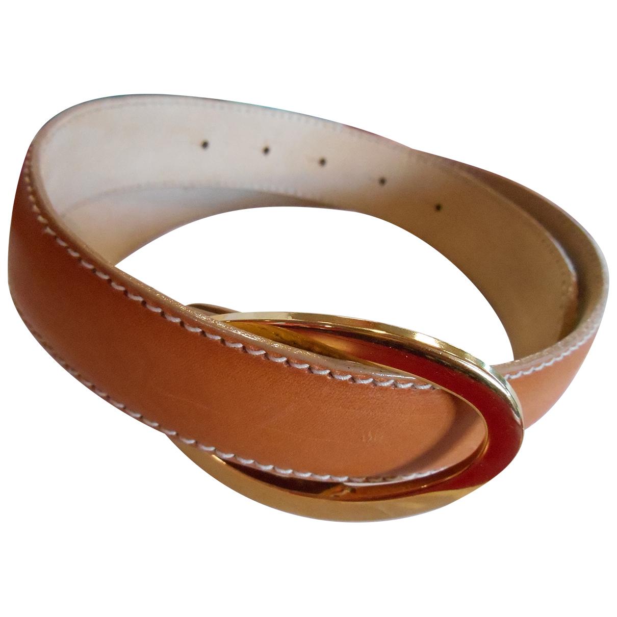 Longchamp \N Camel Leather belt for Women 85 cm