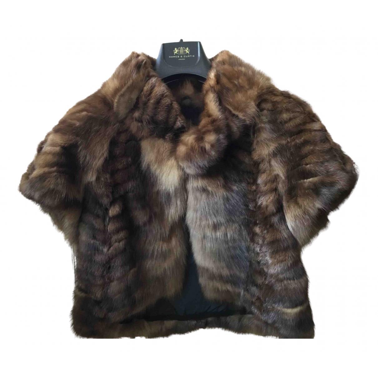 Karl Lagerfeld \N Brown Fur coat for Women 38 IT