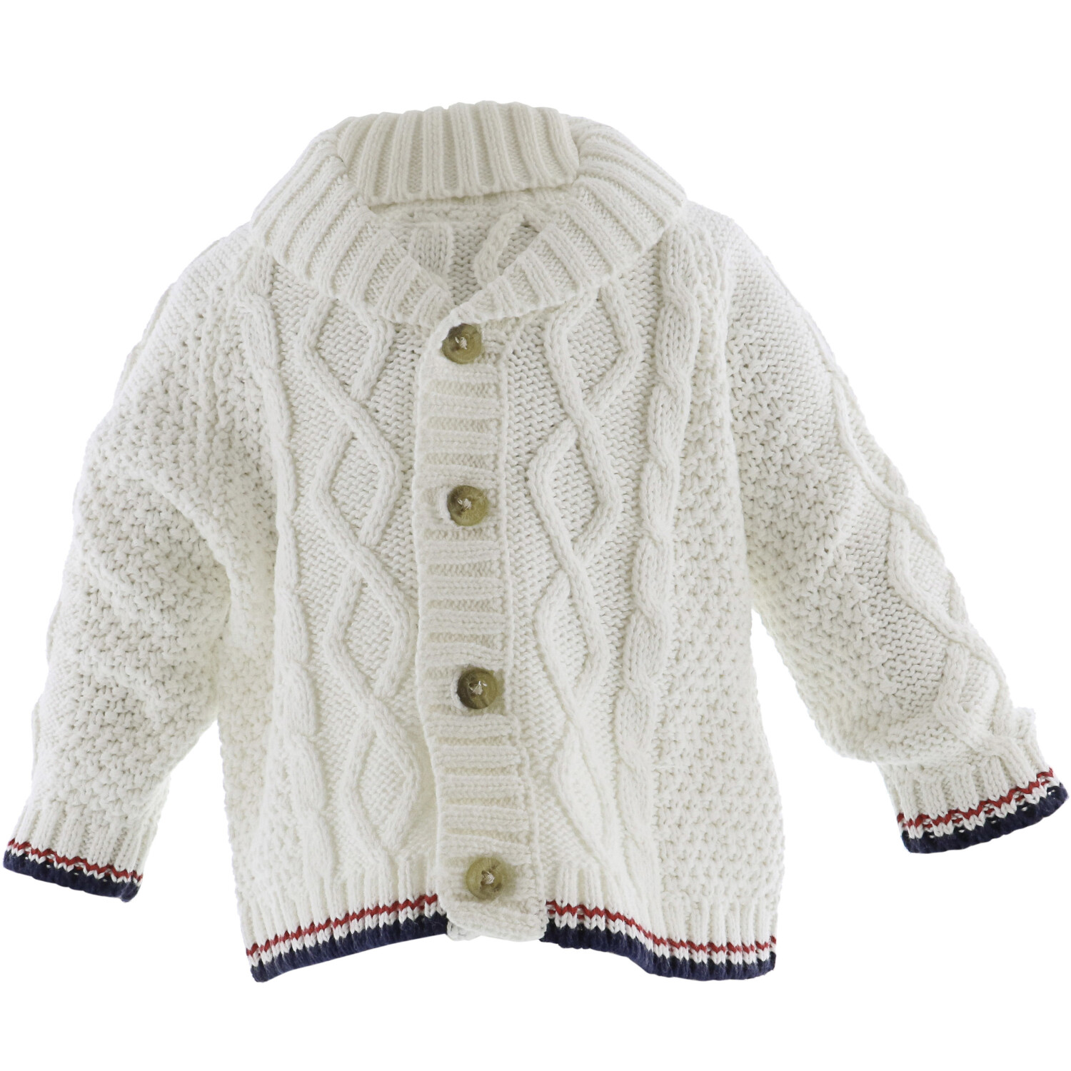 Janie And Jack White Cable Knit Cardigan - 6-12 Months