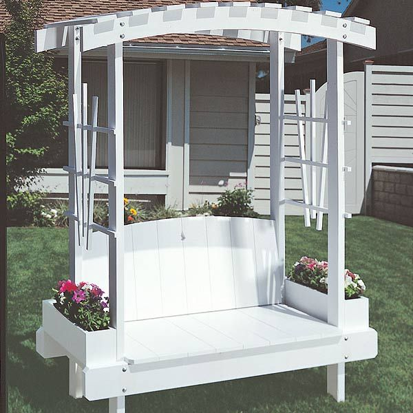Woodworking Project Paper Plan to Build Trellis Bench Plan