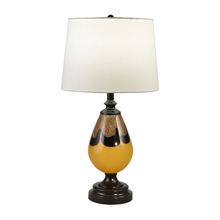 Dale Tiffany Thorton Hand Blown Art Glass Glass Table Lamp, One Size , Multiple Colors