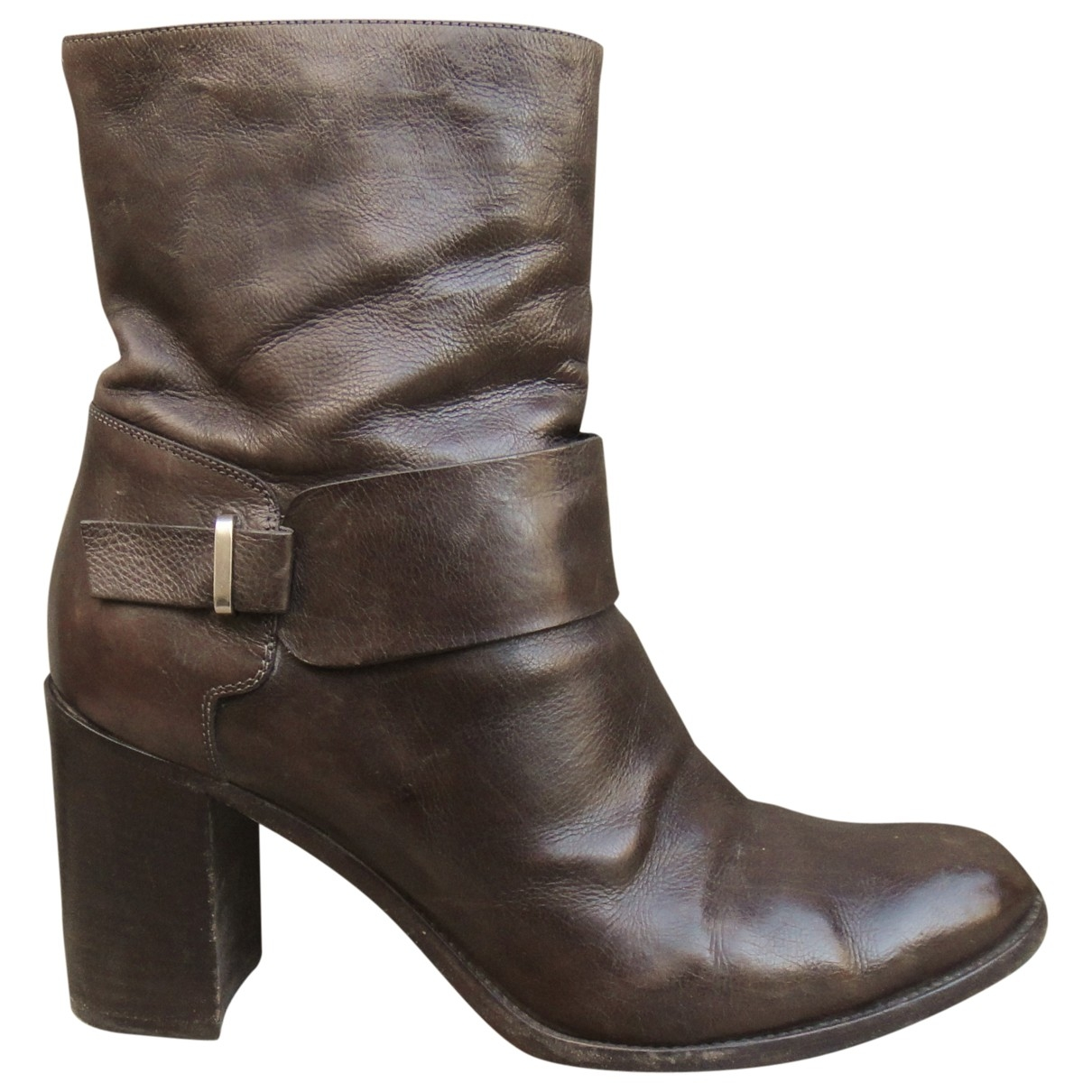 Sartore \N Brown Leather Ankle boots for Women 40 IT