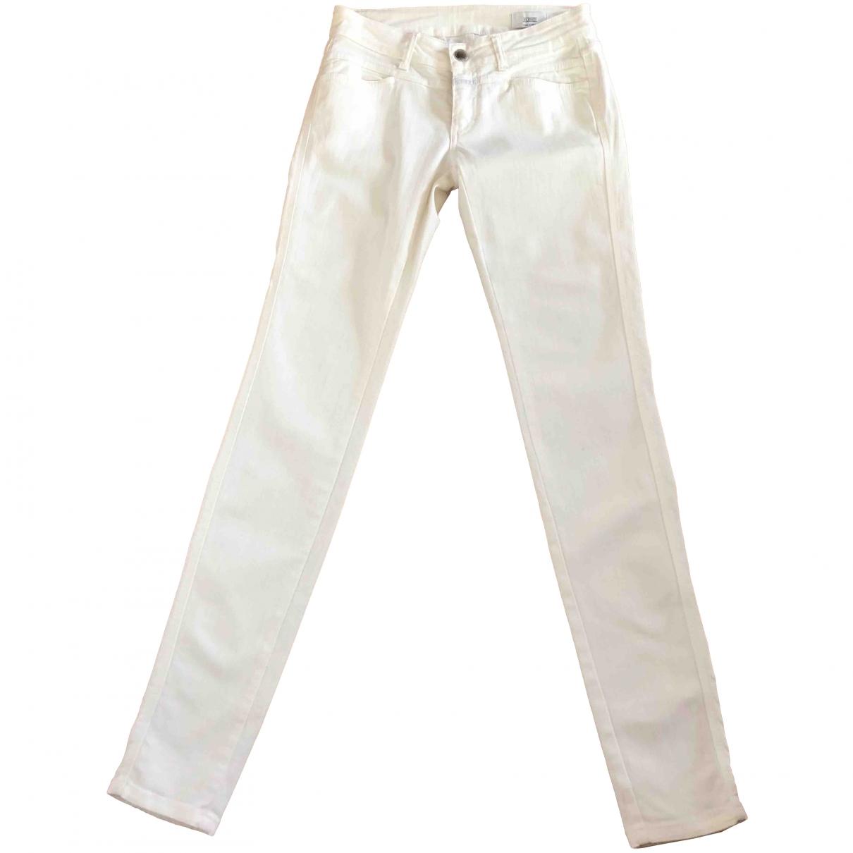 Closed \N Ecru Cotton - elasthane Jeans for Women 26 US