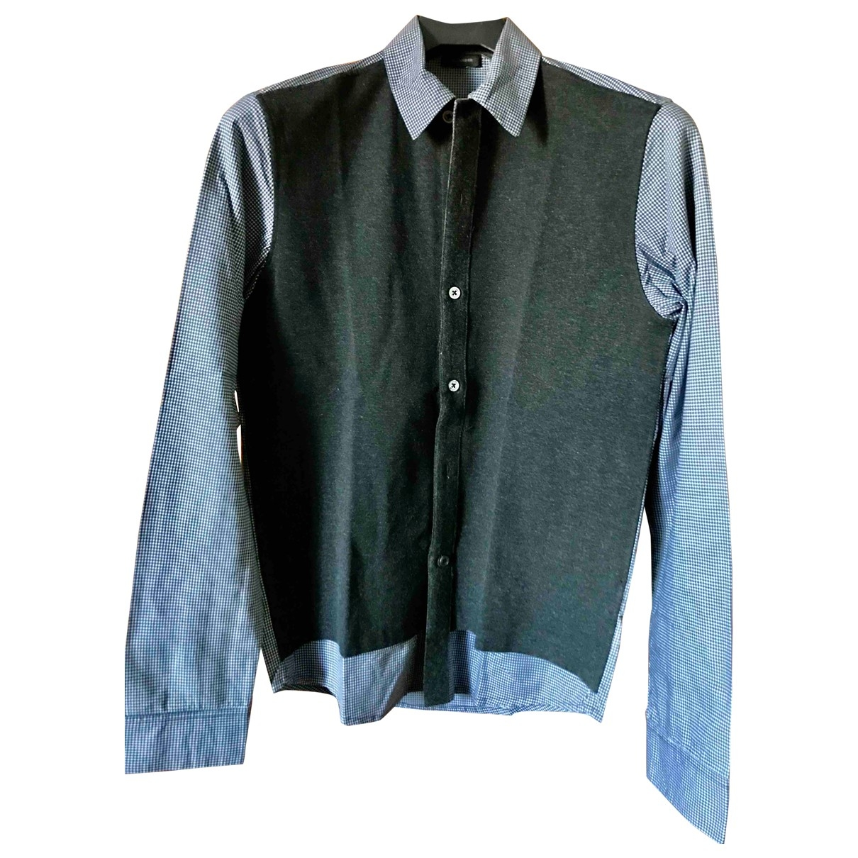 Jil Sander \N Grey Cotton Shirts for Men 40 EU (tour de cou / collar)