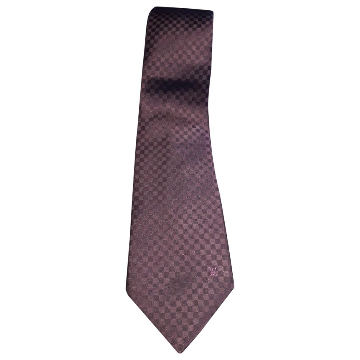 Louis Vuitton \N Purple Silk Ties for Men \N
