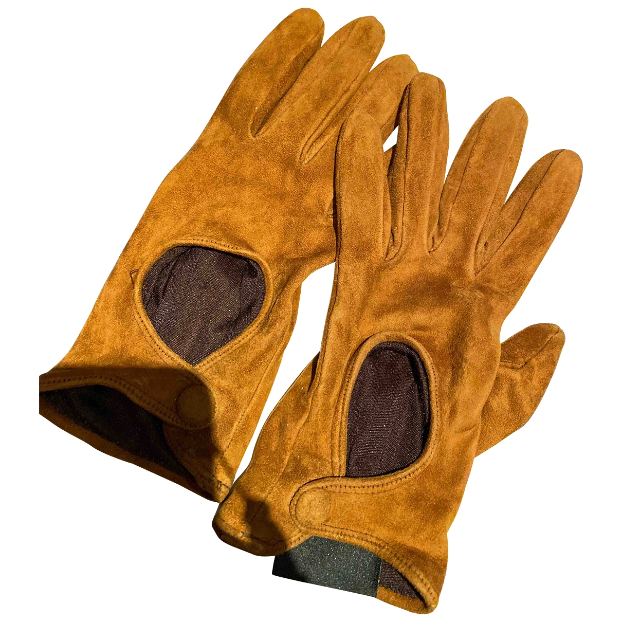 Sergio Rossi \N Brown Suede Gloves for Women 7.5 Inches