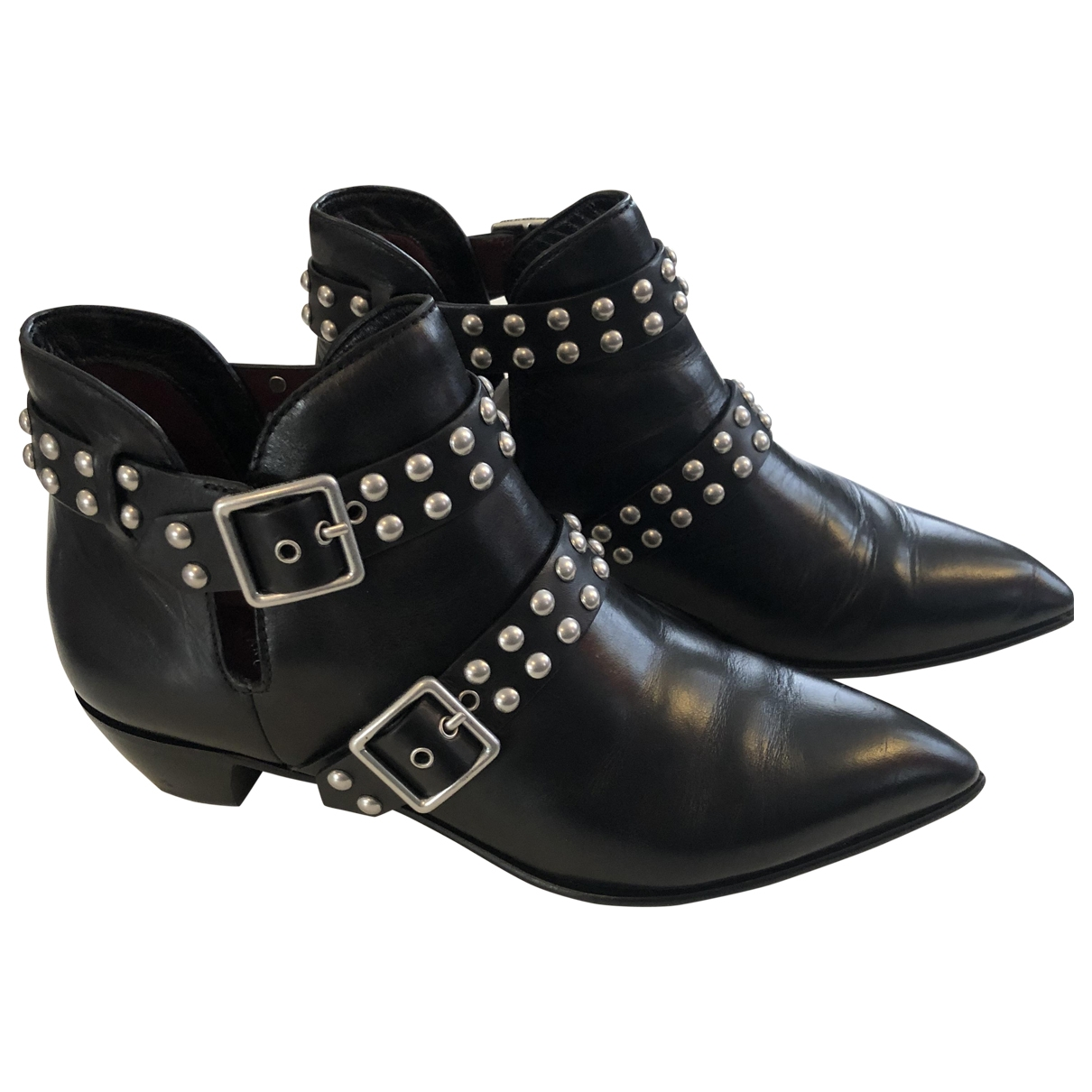 Marc By Marc Jacobs \N Black Leather Ankle boots for Women 38.5 EU