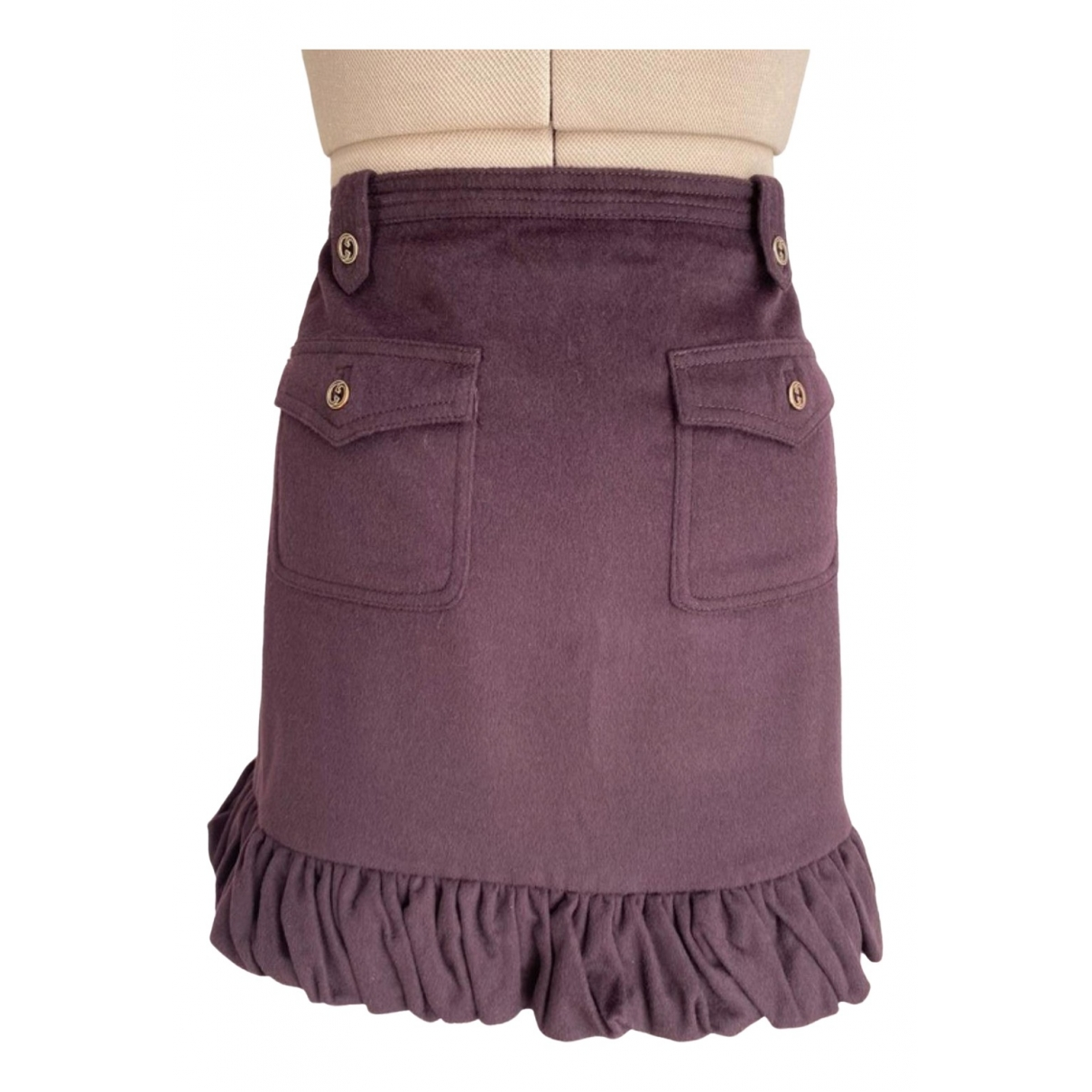 Gucci \N Purple Cashmere skirt for Women 40 IT