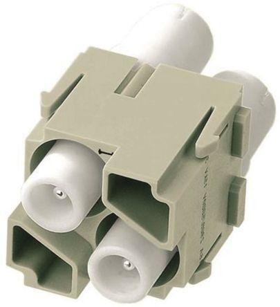 HARTING Han-Modular 0914 Series Crimp Module, Male, 2 Way, 16A, 5 kV