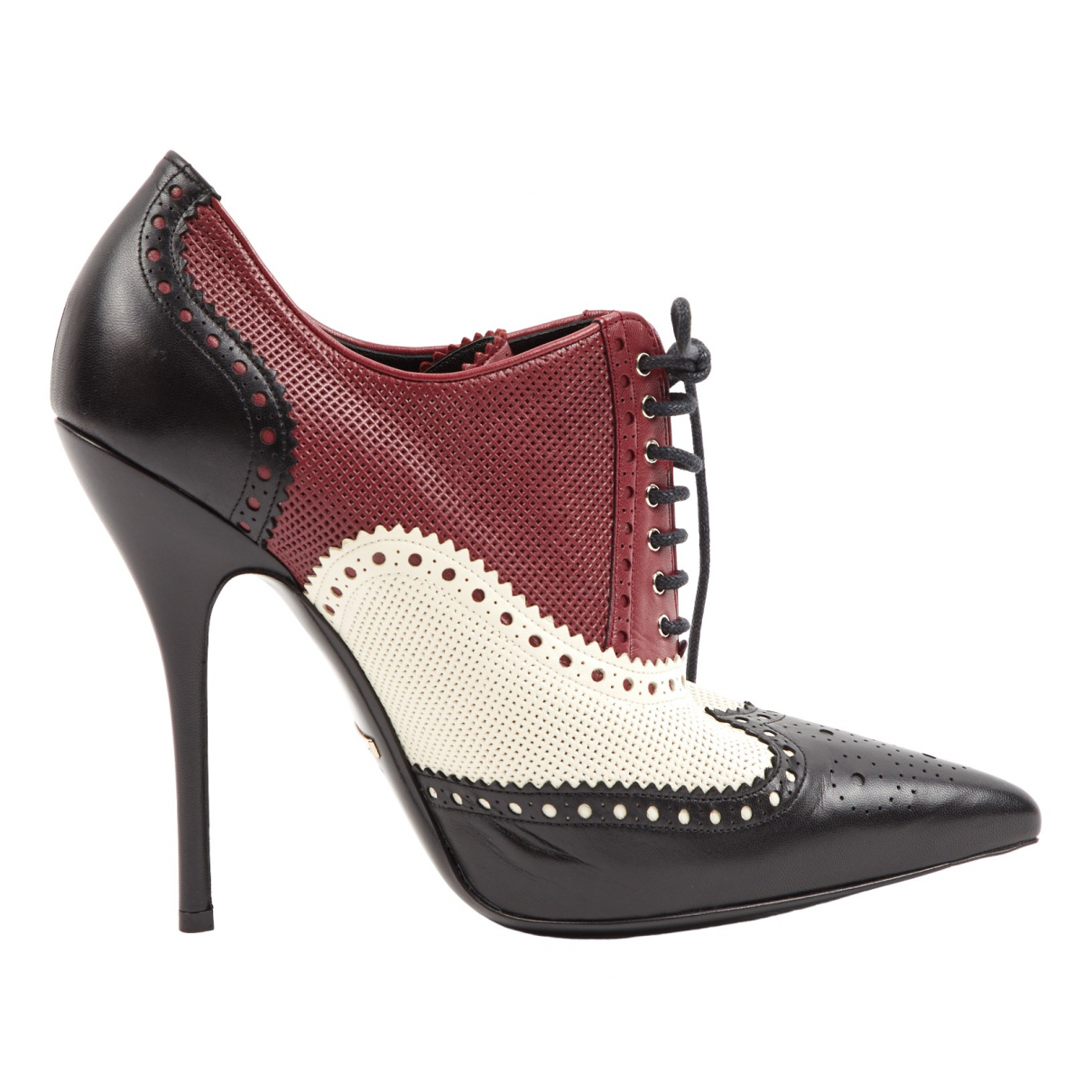 Gucci \N Burgundy Leather Ankle boots for Women 40.5 EU