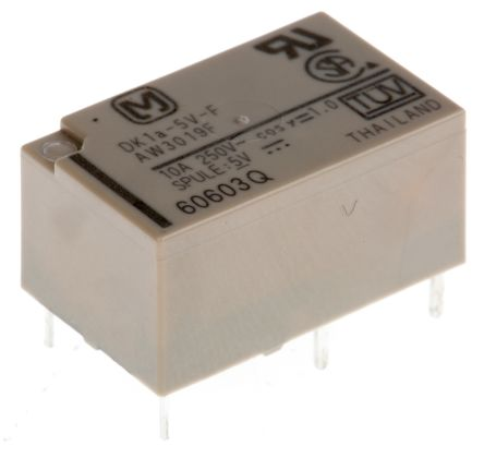 Panasonic , 5V dc Coil Non-Latching Relay, 30A Switching Current
