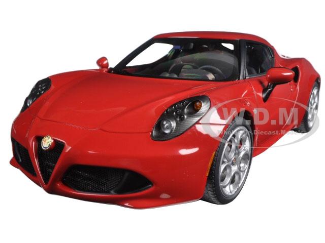 Alfa Romeo 4C Alfa Red 1/18 Model Car by Autoart