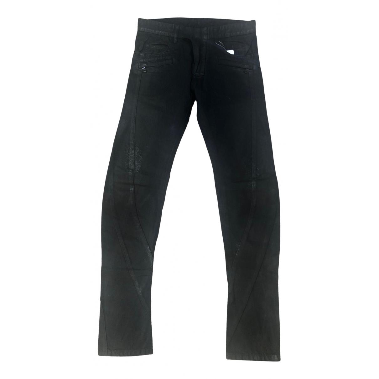 Balmain \N Black Cotton Jeans for Men 30 US