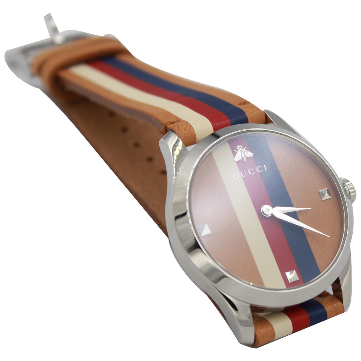 Gucci \N Brown Steel watch for Men \N