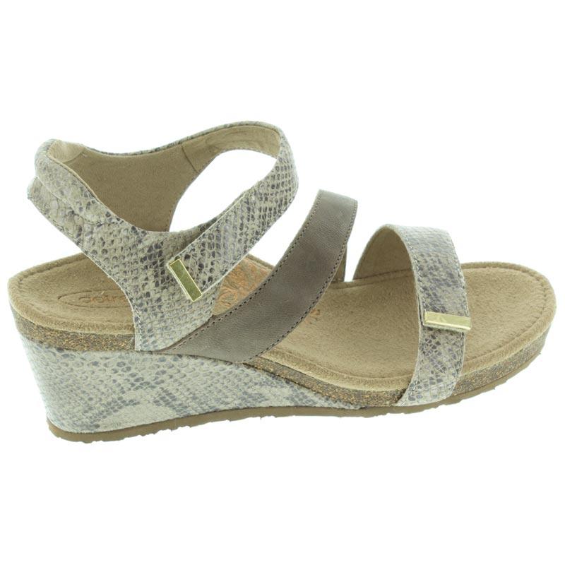 Aetrex Brynn Stone Leather High Heel 38