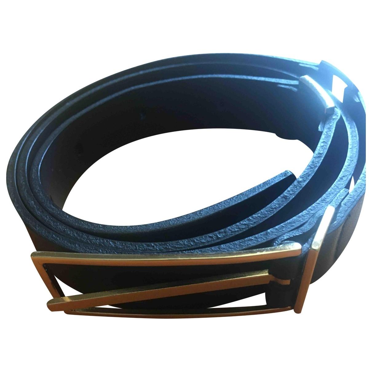Yves Salomon \N Black Leather belt for Women 80 cm
