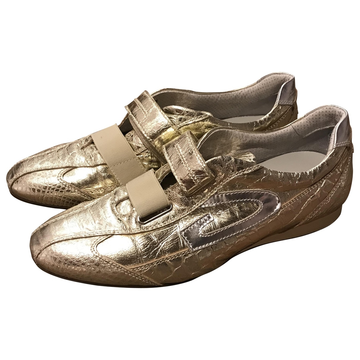 Alberto Guardiani \N Gold Leather Trainers for Women 40 EU