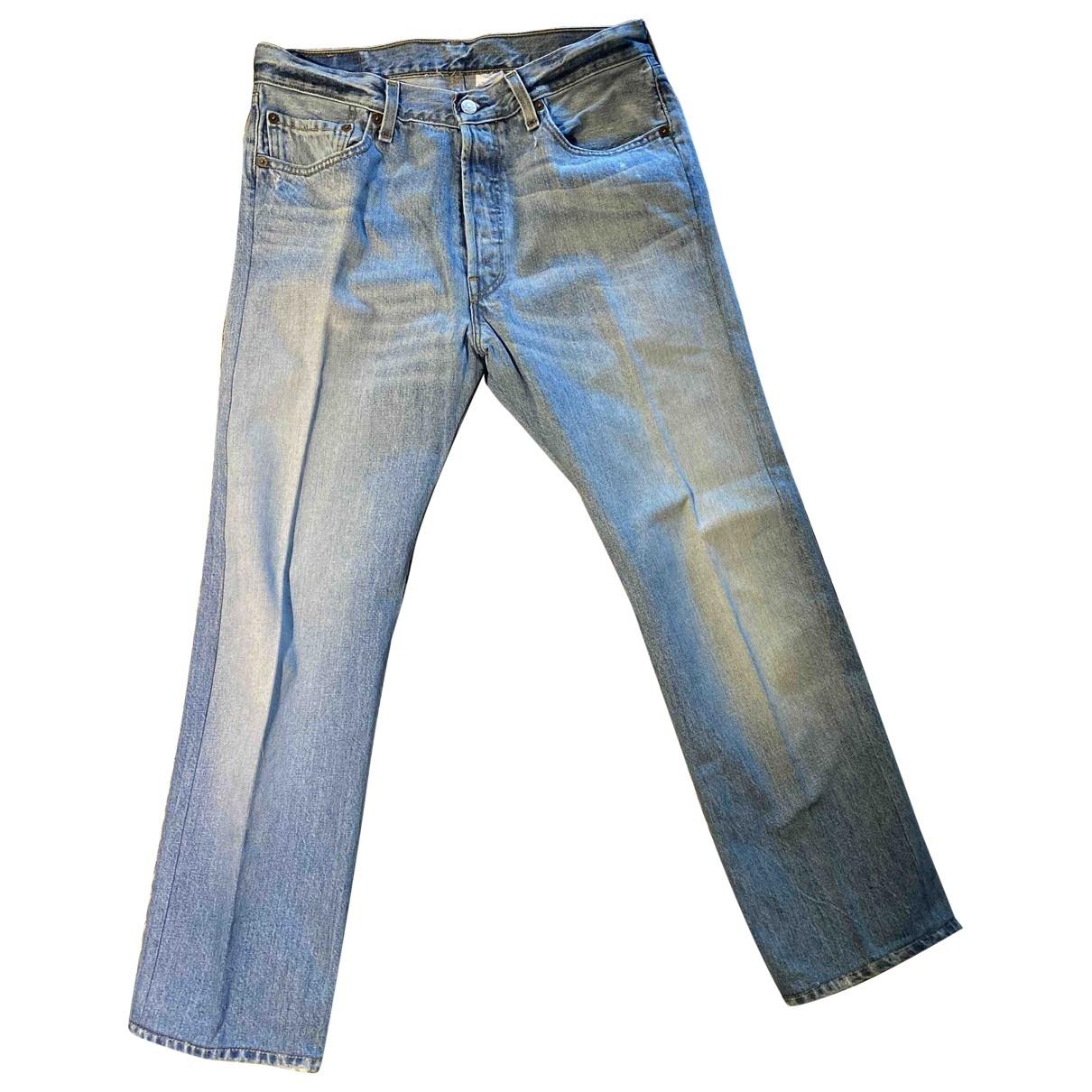 Levi's 501 Blue Cotton Jeans for Men 33 US