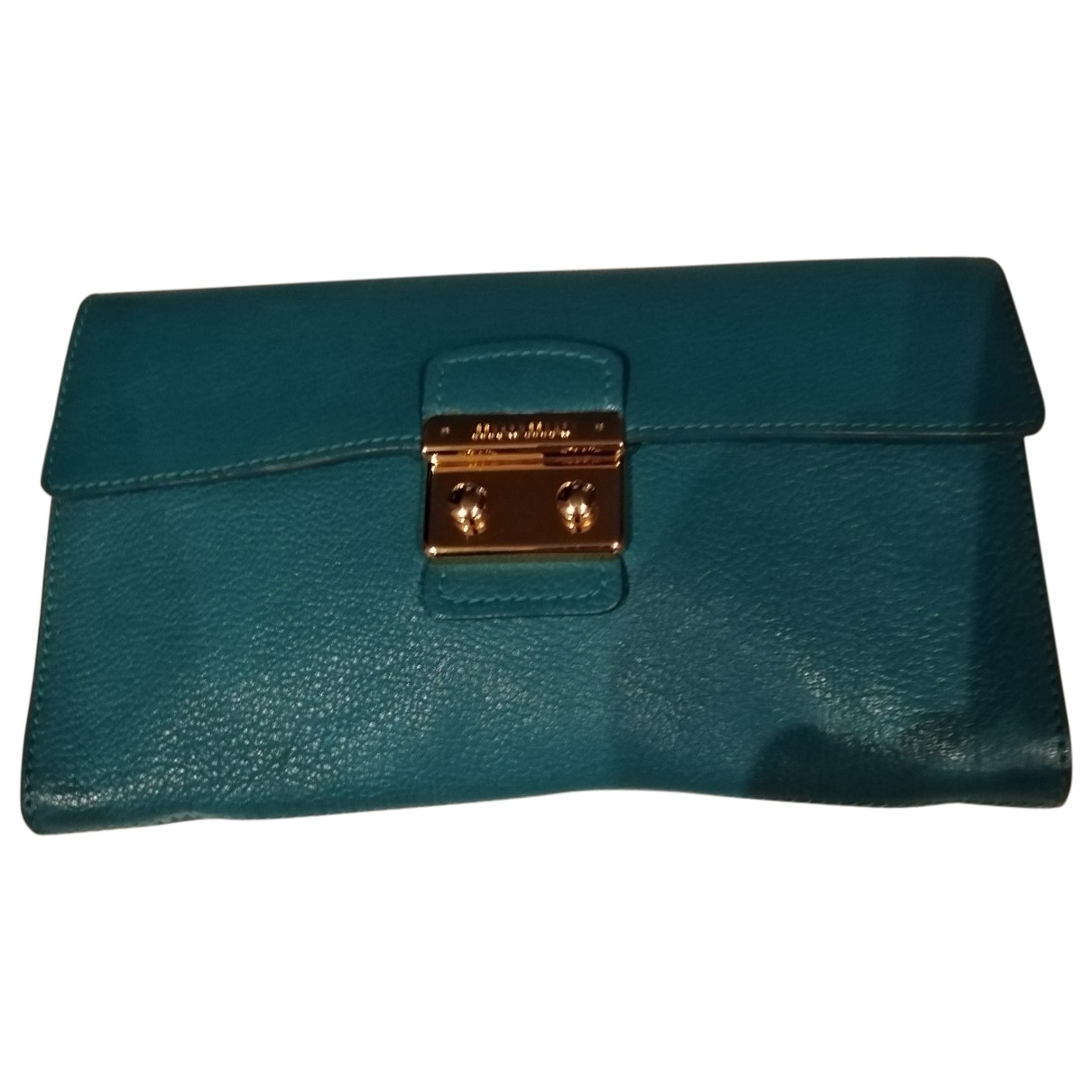 Miu Miu \N Green Leather Clutch bag for Women \N