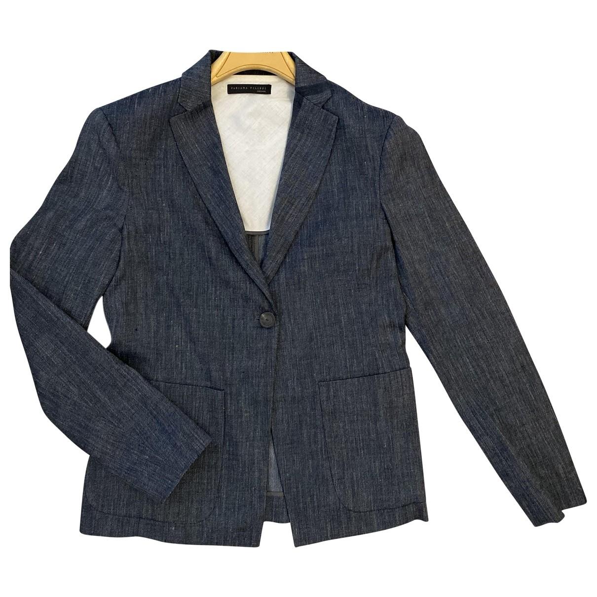 Fabiana Filippi \N Blue Wool jacket for Women 40 IT