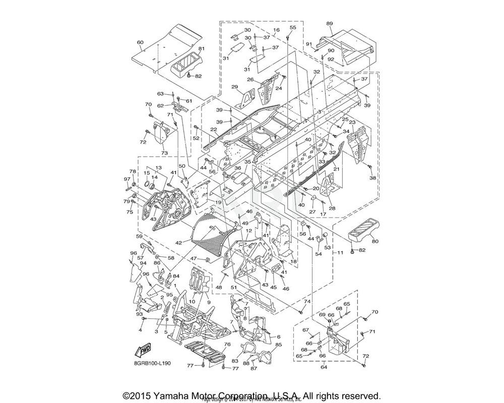 Yamaha OEM 8GJ-21953-00-00 BRACKET, MAIN TRACK 2