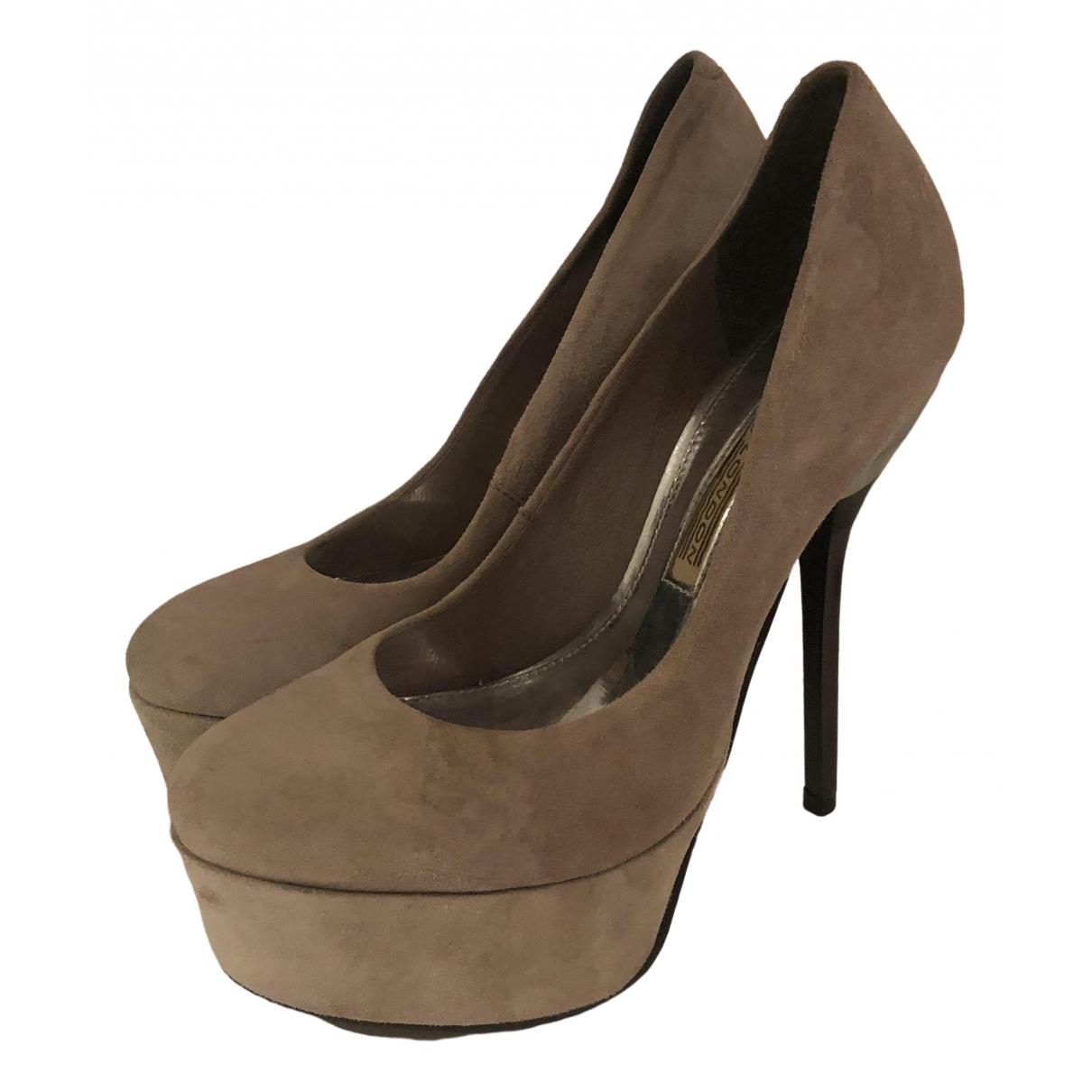 Buffalo \N Grey Suede Heels for Women 38 EU