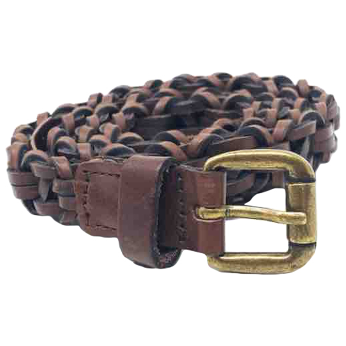 Massimo Dutti \N Brown Leather belt for Women 75 cm