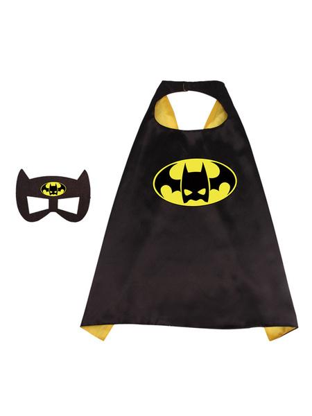 Milanoo DC Comics Batman Kid Cape Costume Accessories Cosplay Costume Halloween