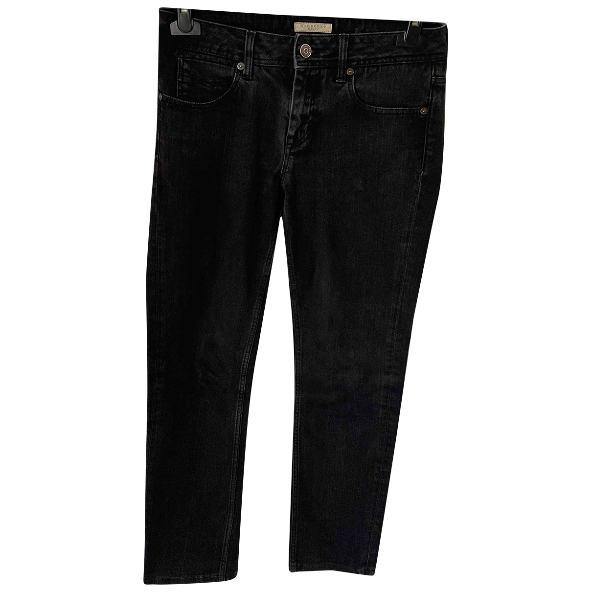 Burberry \N Black Cotton Jeans for Women 27 US