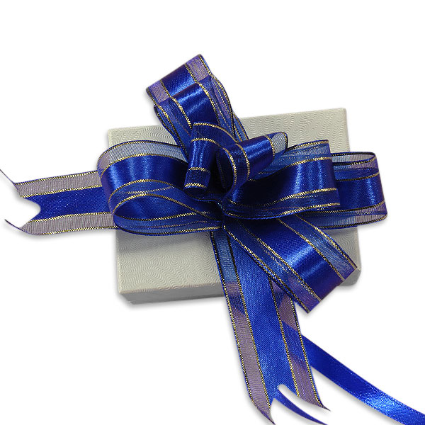 Fabric Cloth Royal Blue Elegance Fabric Butterfly Bow by Ribbons.com | Quantity: 50  | Width: 4