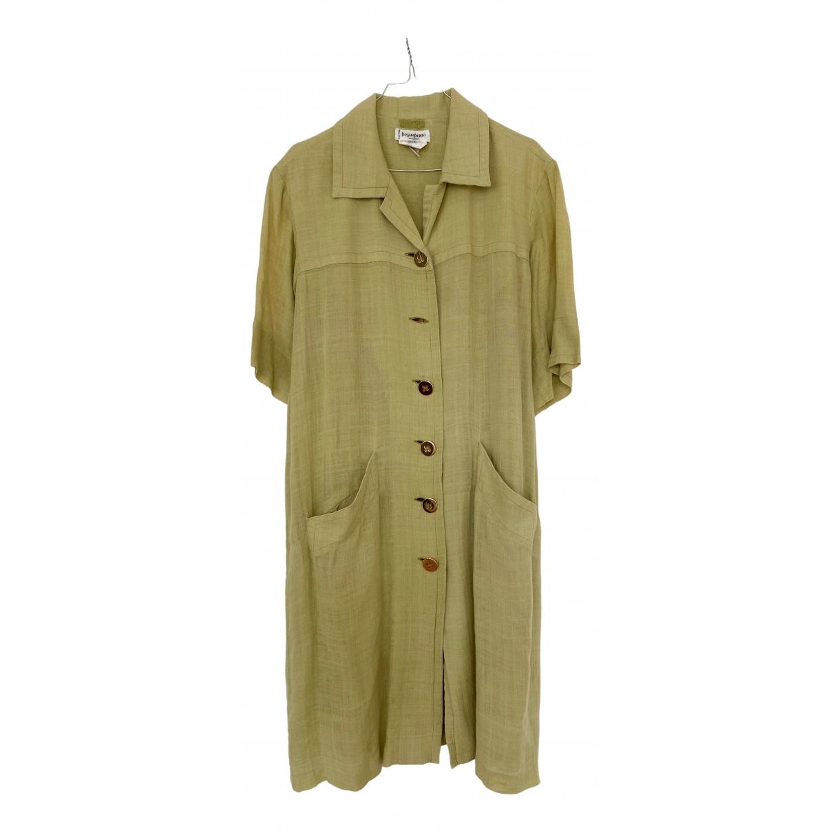 Yves Saint Laurent \N Green Silk dress for Women M International