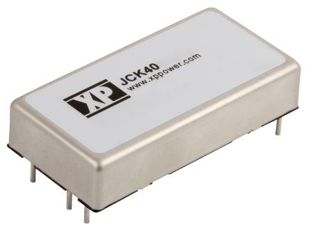 XP Power JCK 40W Isolated DC-DC Converter Through Hole, Voltage in 9 → 18 V dc, Voltage out 5V dc