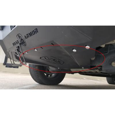 Road Armor Spartan Front Bumper Bolt-On Accessory Skid Plate Guard (Texture Black) - 6181XFSPB