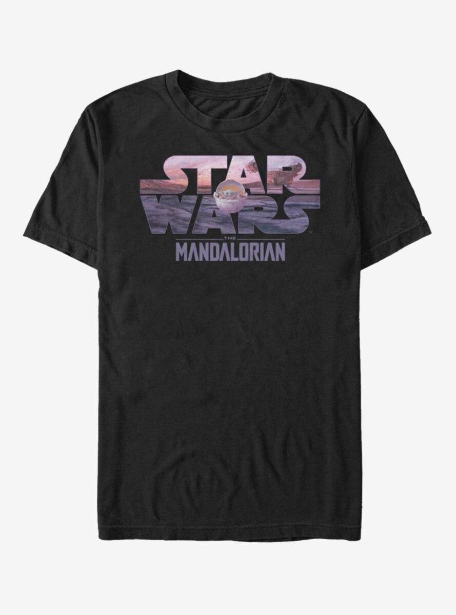 Star Wars The Mandalorian The Child Logo Fill T-Shirt