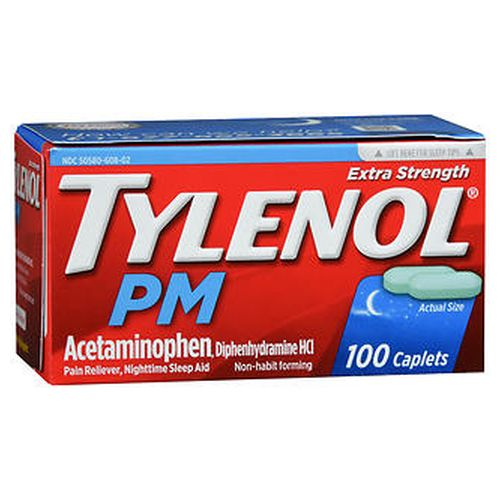 Tylenol Pm Caplets 100 Caps by Tylenol