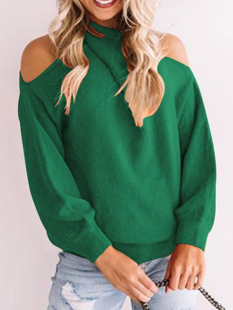 Ericdress Regular Off Shoulder Standard Sweater