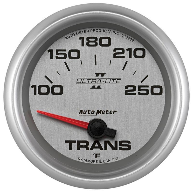 AutoMeter GAUGE; TRANSMISSION TEMP; 2 5/8in.; 100-250deg.F; ELECTRIC; ULTRA-LITE II