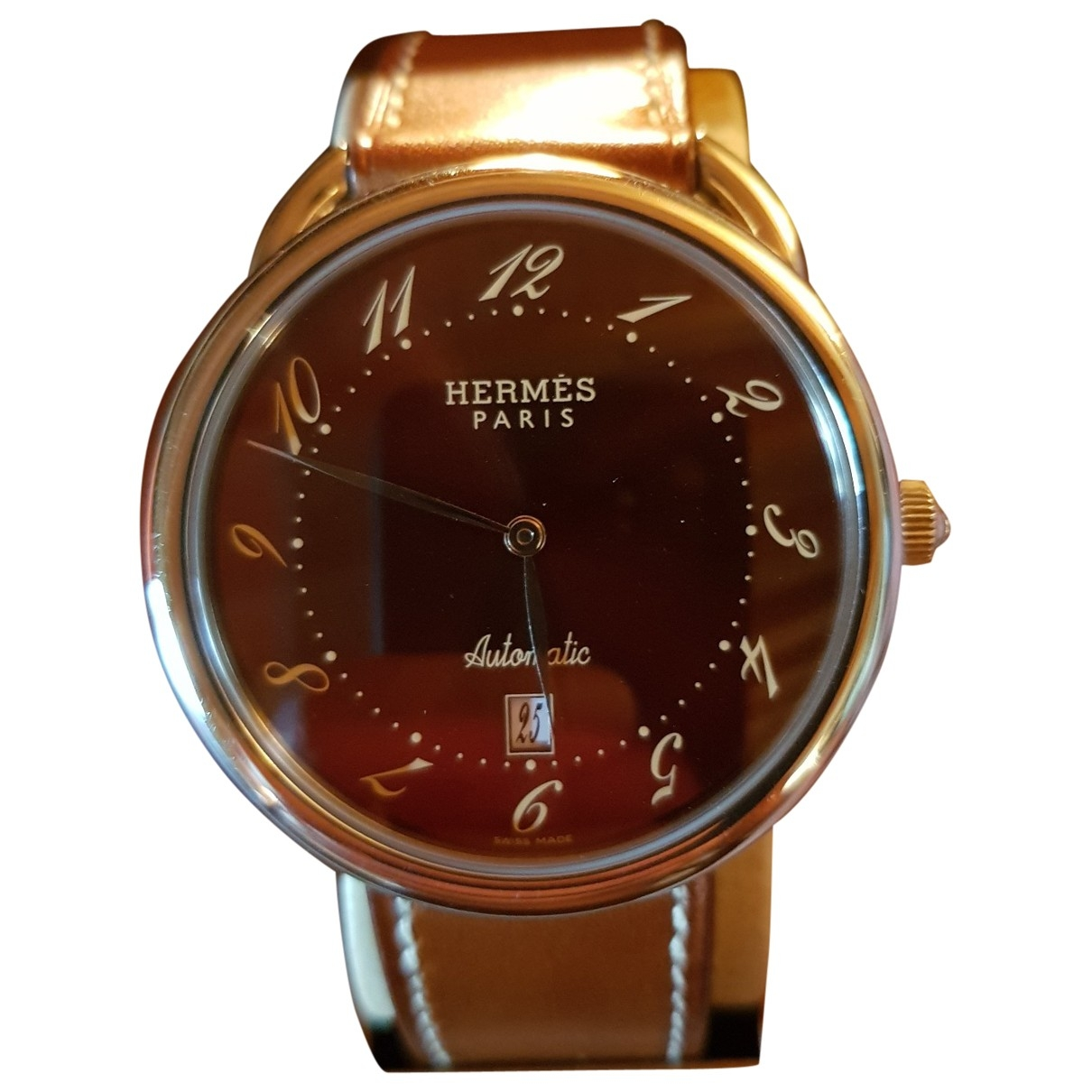 Hermès Arceau Silver Steel watch for Men \N