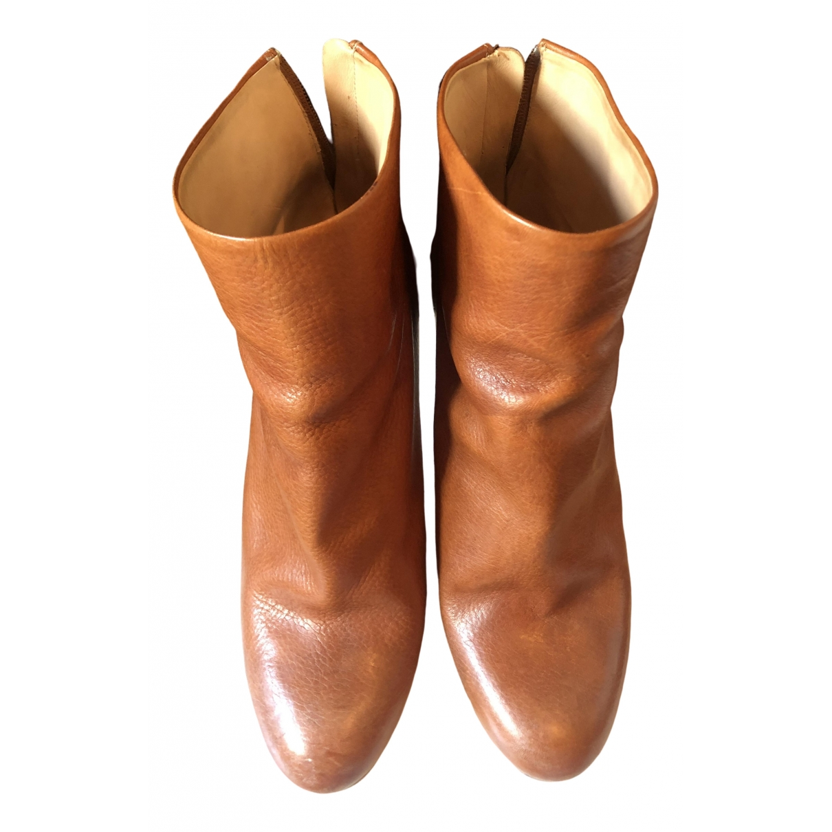 Maison Martin Margiela \N Brown Leather Ankle boots for Women 38 EU