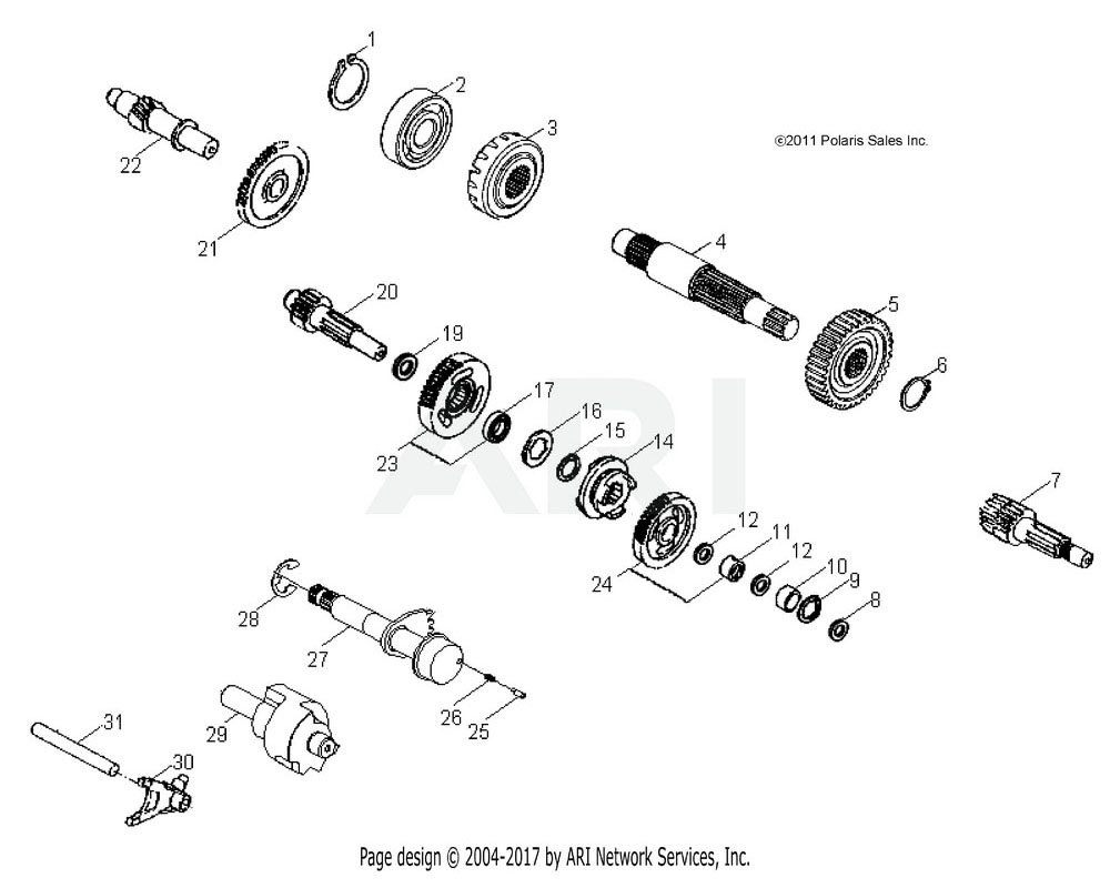 Polaris OEM 0452519 ASM., REVERSE GEAR | [INCL. 17]