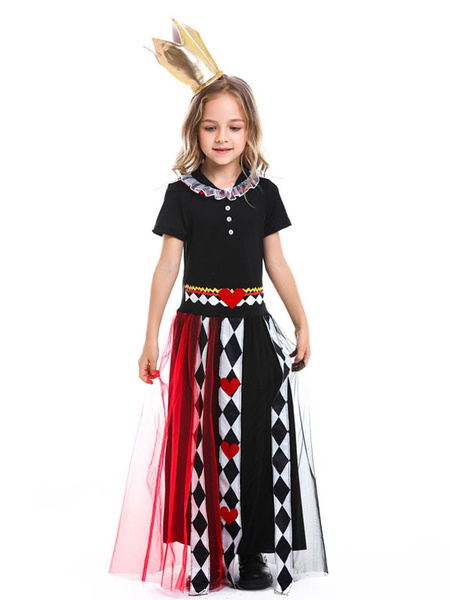 Milanoo Disfraz de niños Halloween Niños Alicia en el pais de las maravillas Cosplay Vestido negro Sombreros Niños Disfraces de cosplay Disfraz Carnav