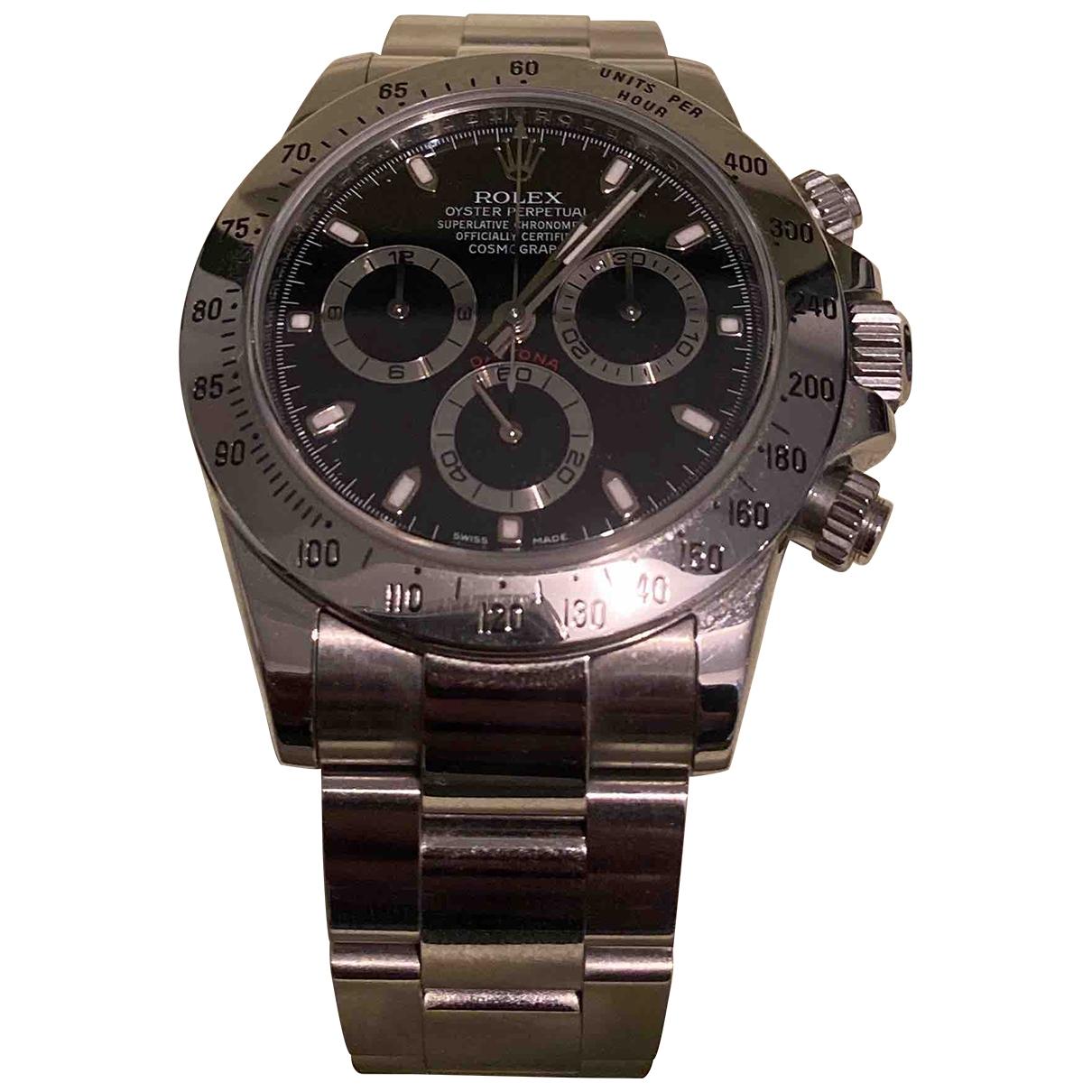 Rolex Daytona Silver Steel watch for Men \N