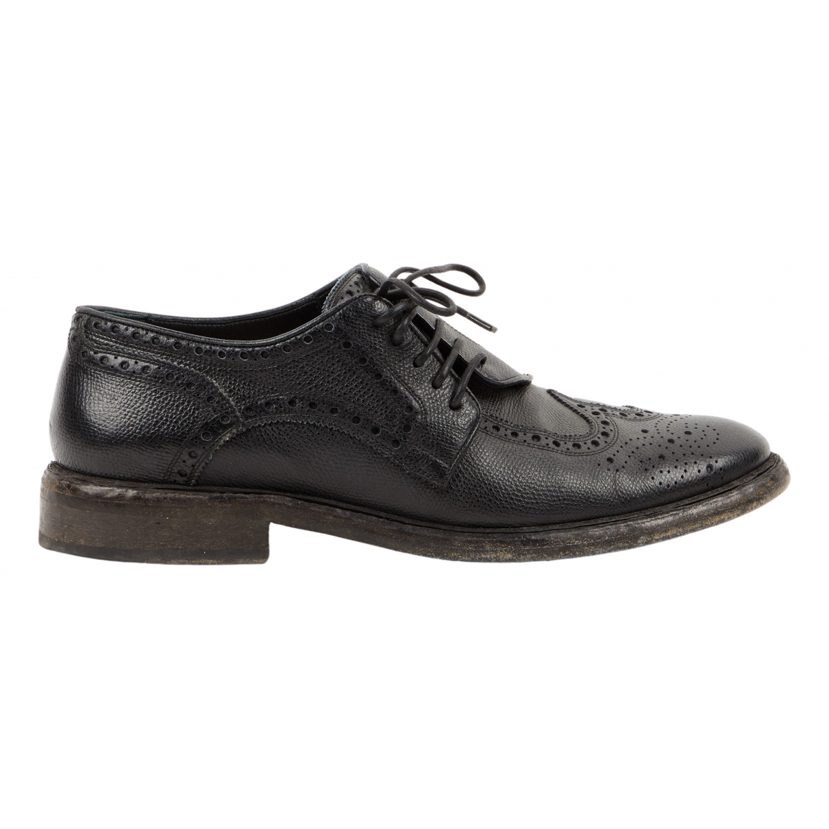 Burberry \N Black Leather Lace ups for Men 44 EU